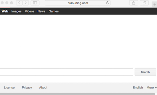 Oursurfing.com browser hijacker