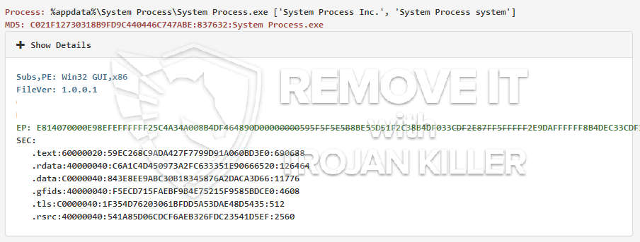 remove System Process.exe virus
