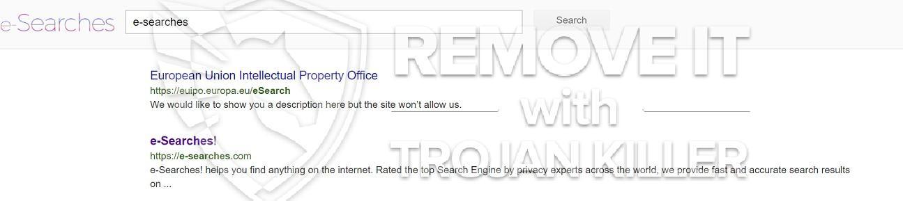 remove E-Searches virus