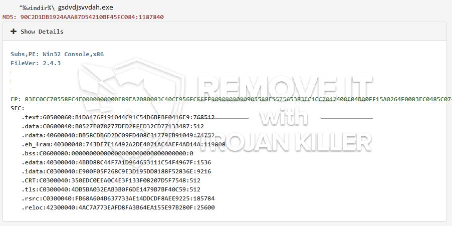 remove gsdvdjsvvdah.exe virus