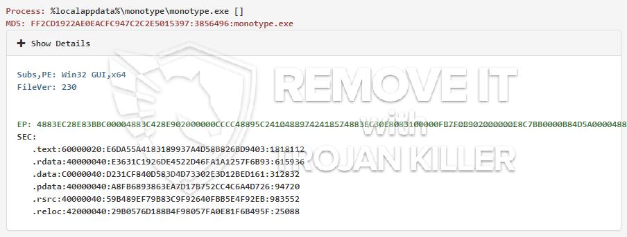 remove monotype.exe virus