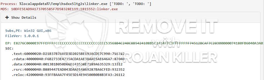 remove linker.exe virus