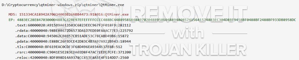 remove QtMiner.exe virus