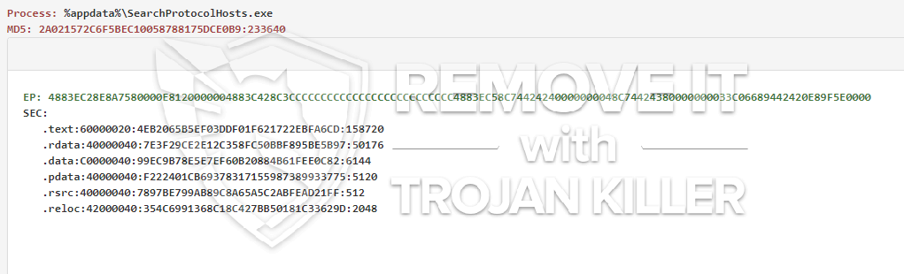 remove SearchProtocolHosts.exe virus
