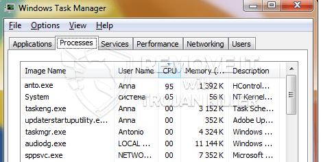 remove anto.exe virus