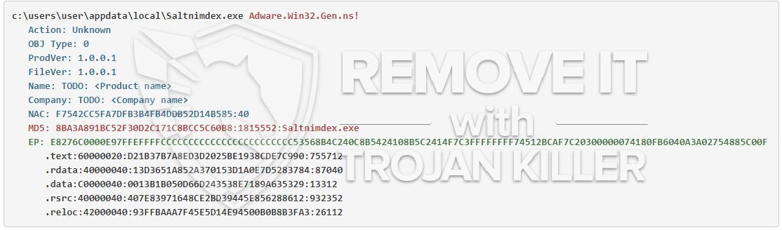remove Saltnimdex.exe virus