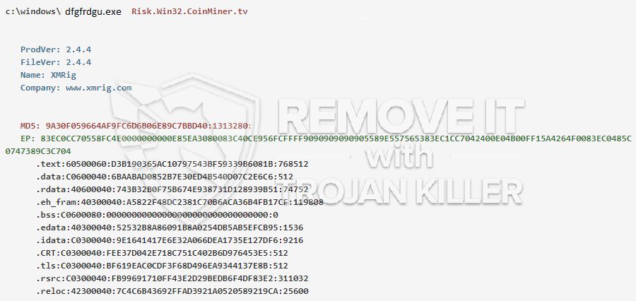 remove dfgfrdgu.exe virus