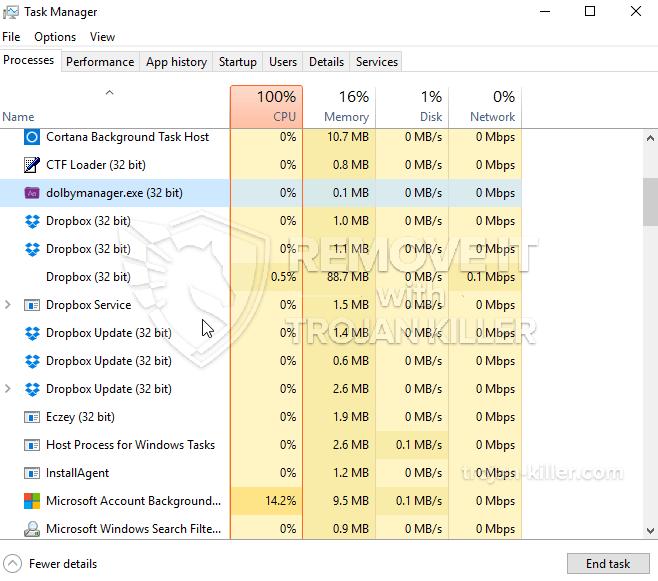remove Dolbymanager.exe (32 bit) virus