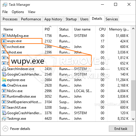 remove wupv.exe virus