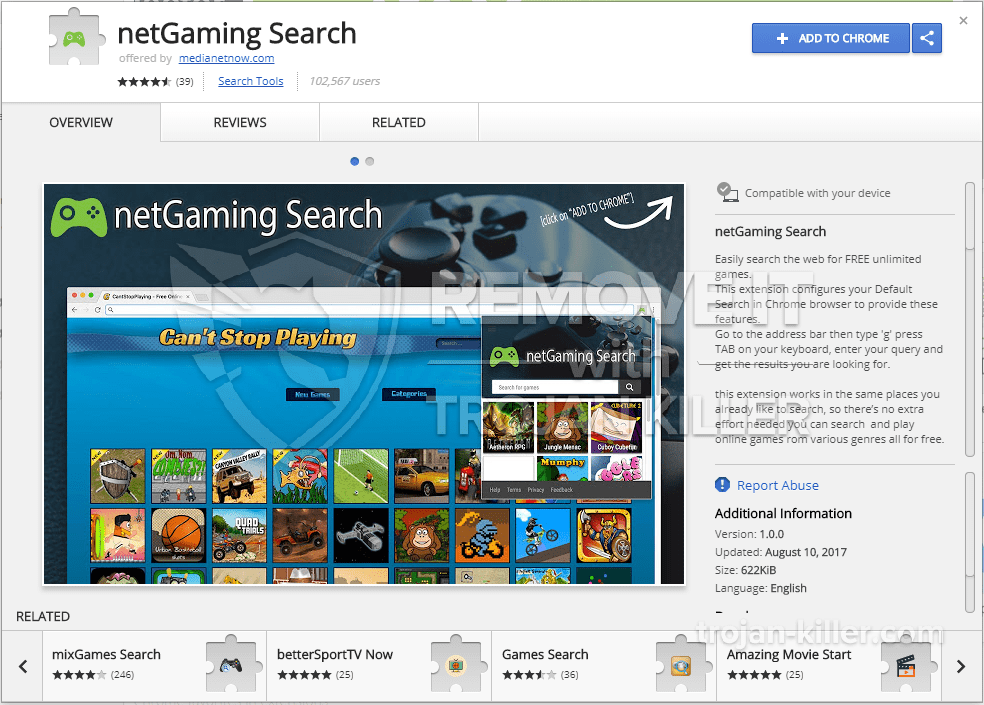 remove netGaming Search virus