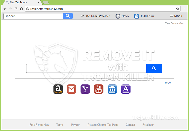 remove Search.hfreeformsnow.com virus
