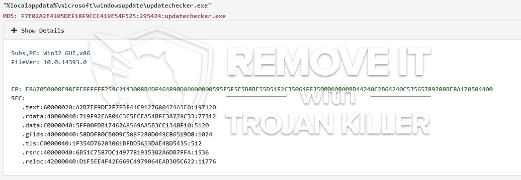 remove updatechecker.exe virus