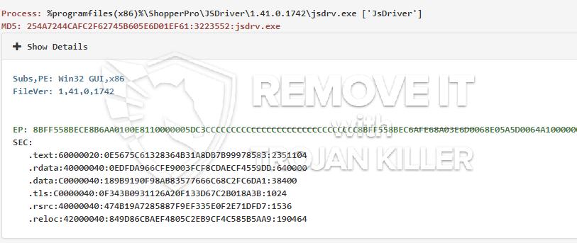 remove jsdrv.exe virus