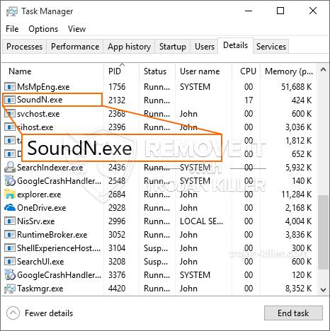 remove SoundN.exe virus