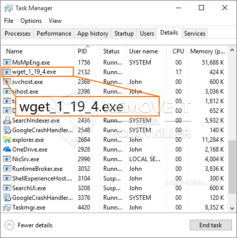remove wget_1_19_4.exe virus