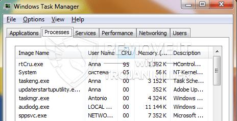 remove rtCru.exe virus