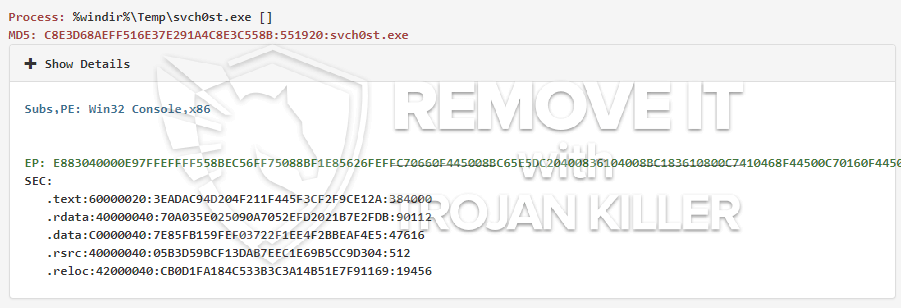 remove svch0st.exe virus