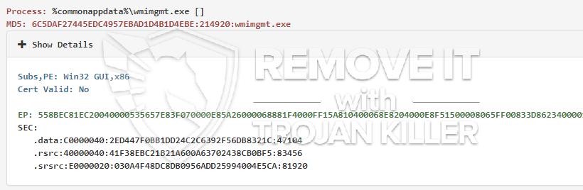 remove wmimgmt.exe virus
