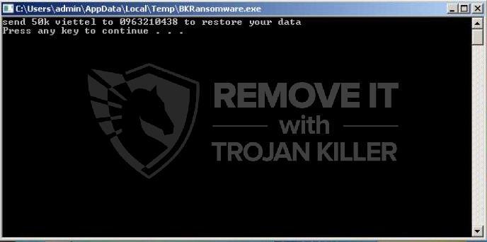 remove BKRansomware virus