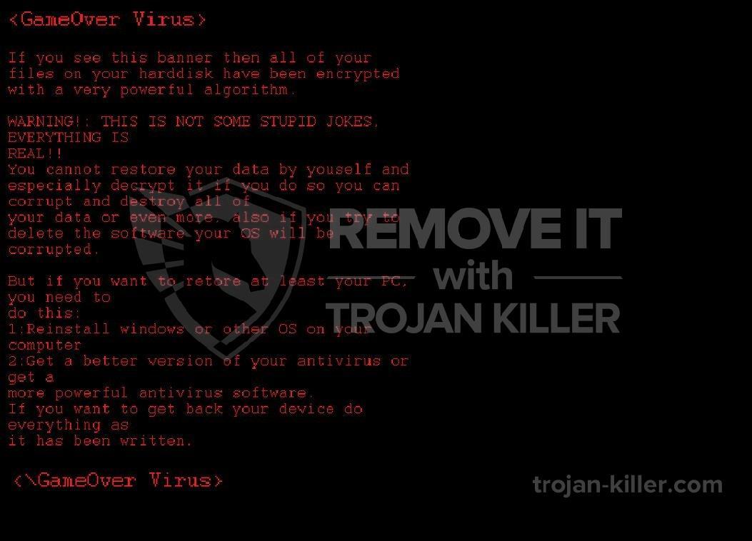 remove GameOver virus