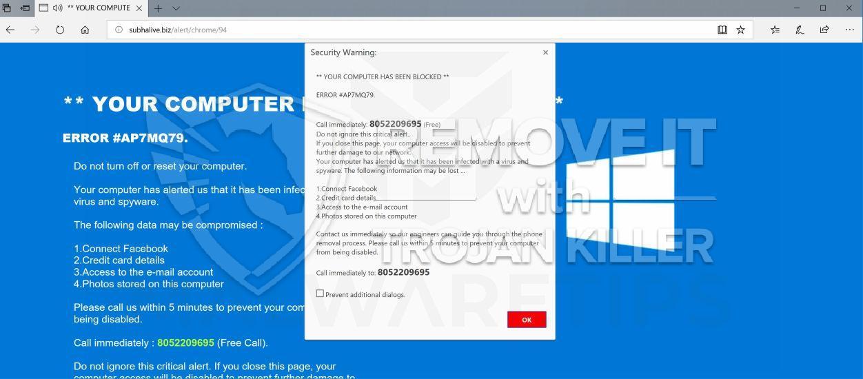 remove ERROR #AP7MQ79 virus