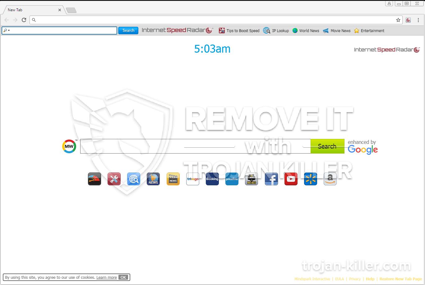 remove InternetSpeedRadar virus