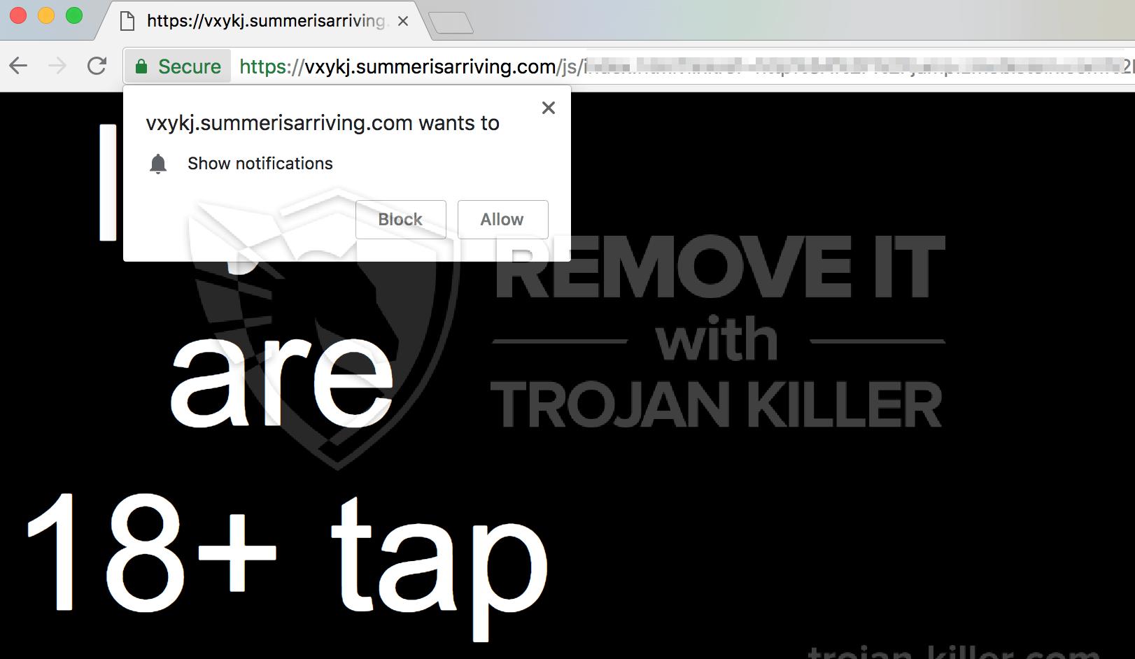 remove Summerisarriving.com virus