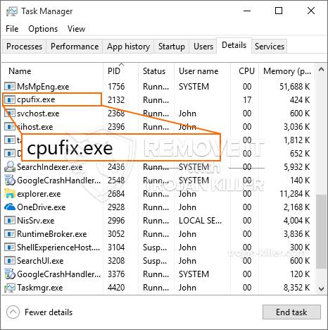 remove Cpufix.exe virus