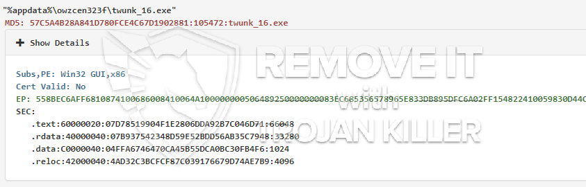Twunk_16.exe - How to remove? Malicious process : How to Remove and