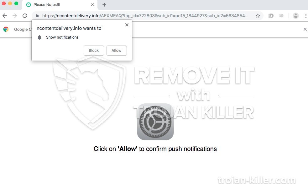 remove Ncontentdelivery.info virus