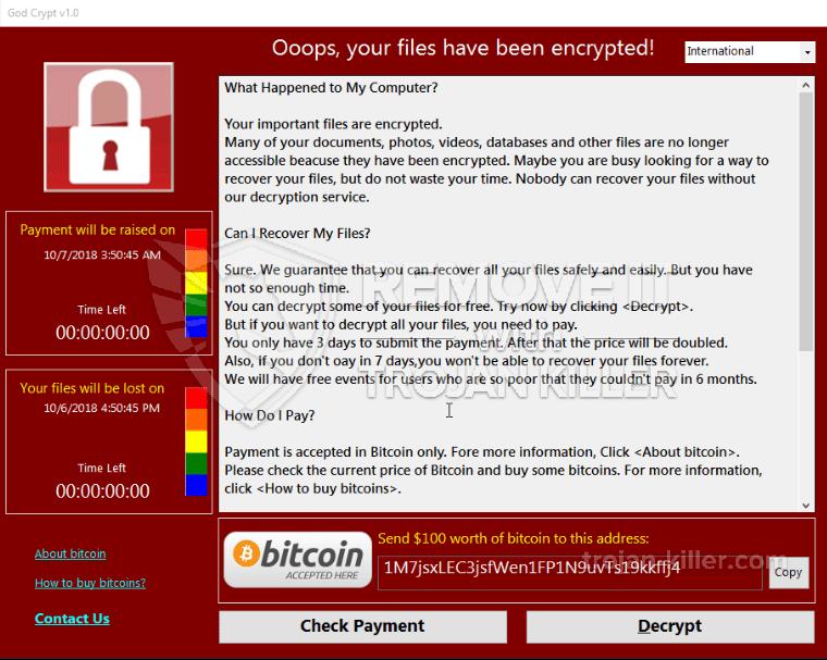 remove Godsomware v1.0 virus