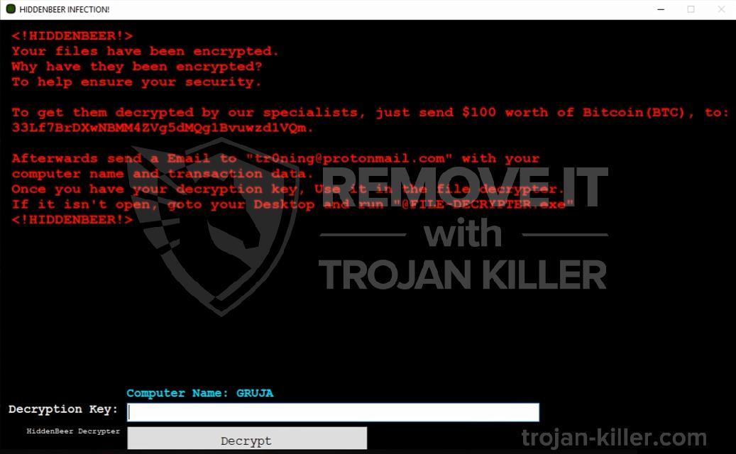 remove HiddenBeer virus