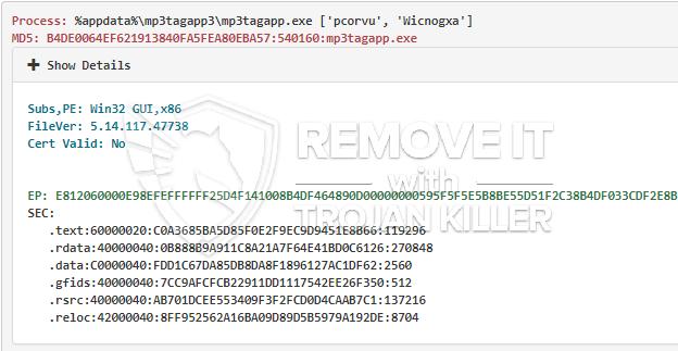 remove Mp3tagapp.exe virus