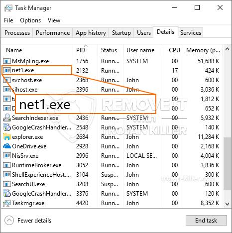 remove Net1.exe virus