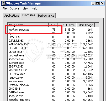 remove PerfWatson.exe virus