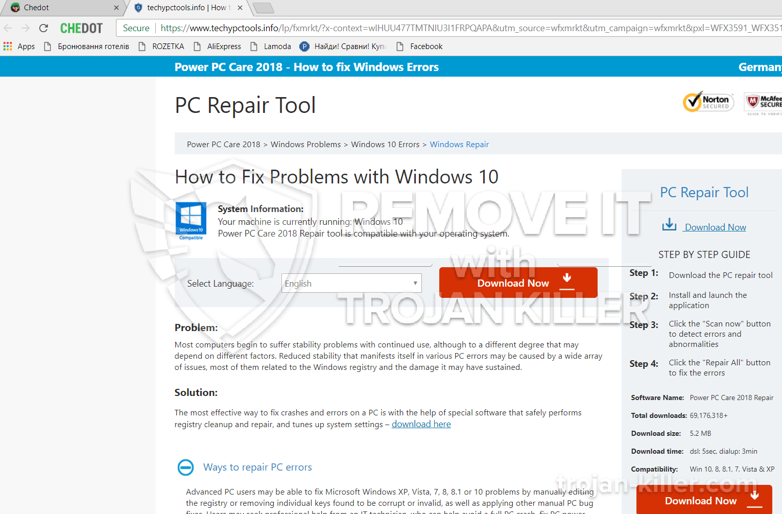 remove Techypctools.info virus