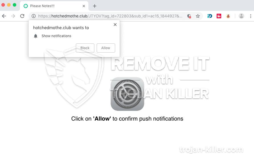 remove Hotchedmothe.club virus