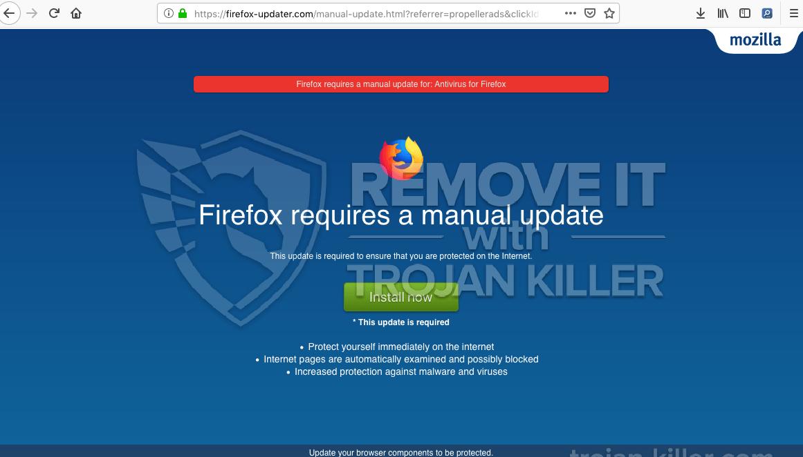 remove Firefox-updater.com virus