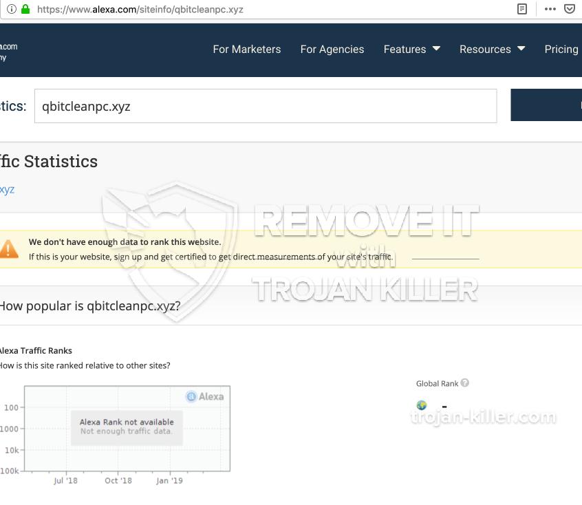 remove Qbitcleanpc.xyz virus