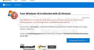 Your Windows is infected with (2) Viruses! pop-ups: How can I remove Your Windows is infected with (2) Viruses!?