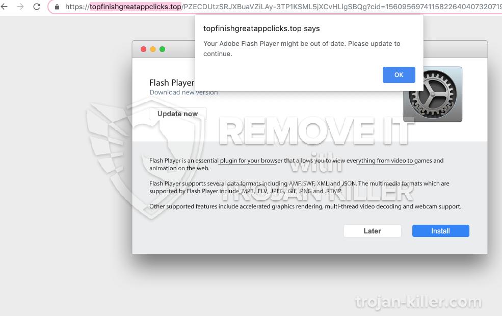 remove Topfinishgreatappclicks.top virus