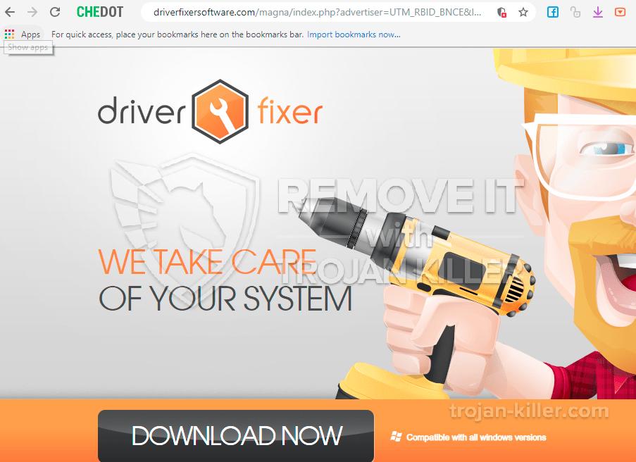 remove Driverfixersoftware.com virus