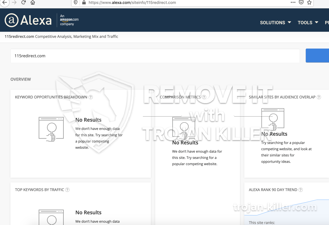 remove 115redirect.com virus