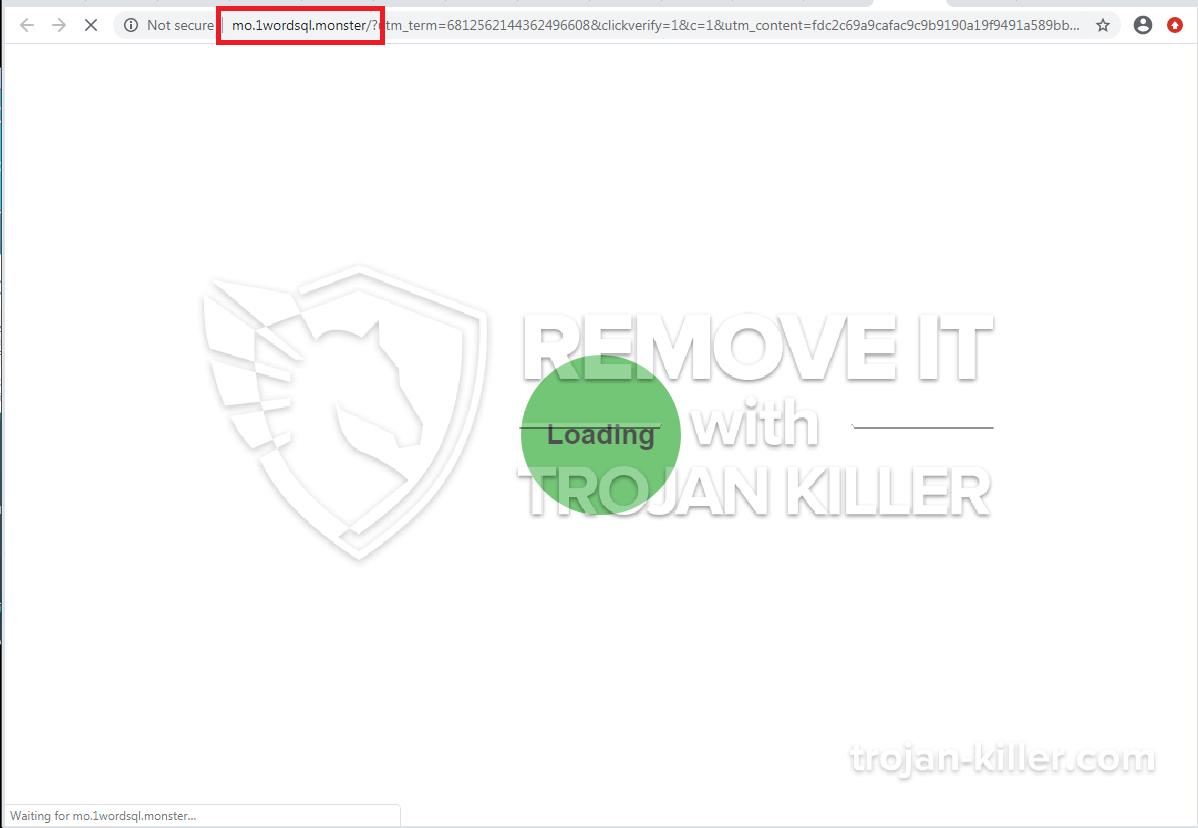 remove 1wordsql.monster virus