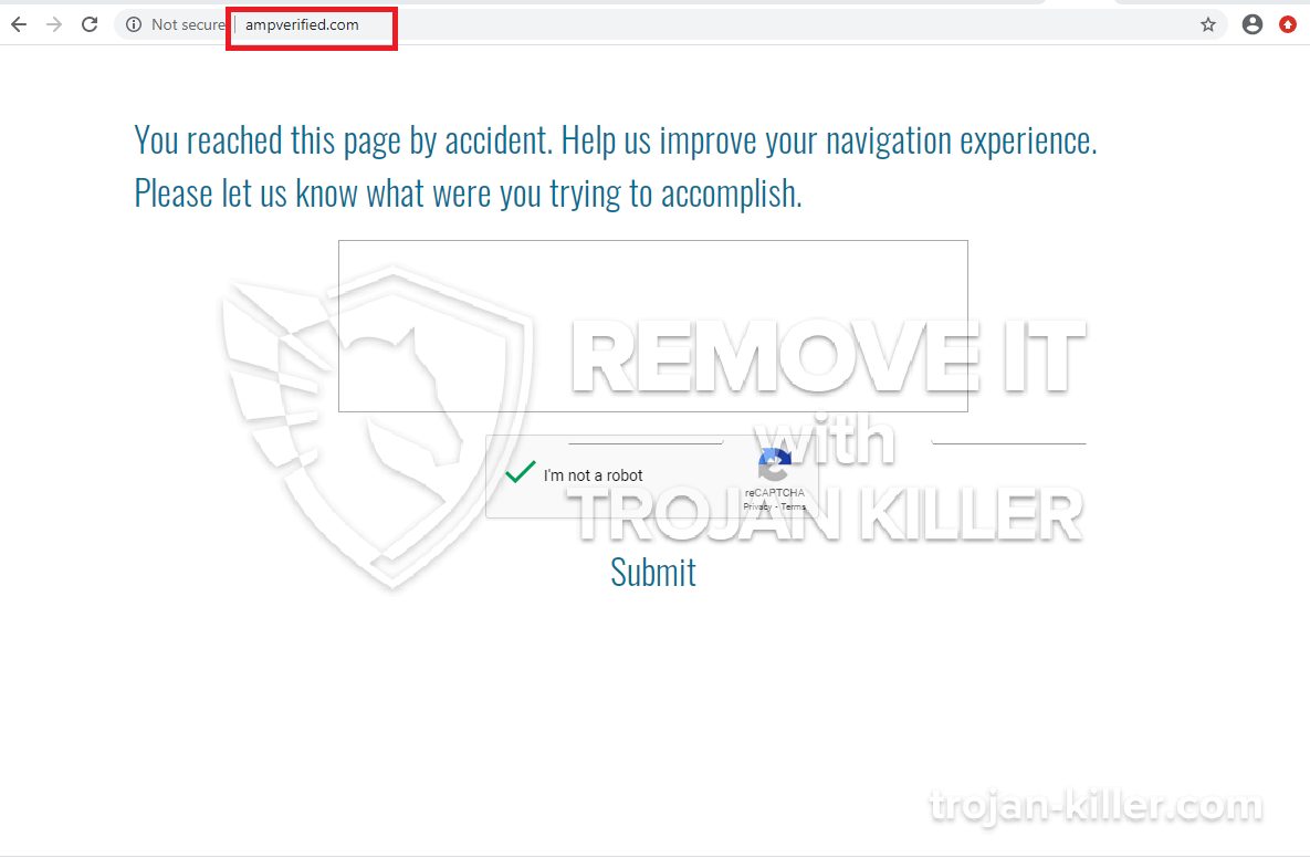 remove Ampverified.com virus