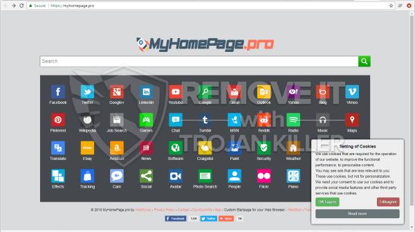Myhomepage.pro virus
