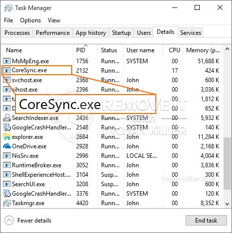 Hva er CoreSync.exe?