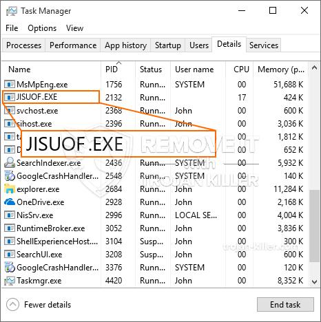 What is JISUOF.EXE?