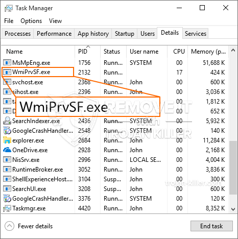 What is WmiPrvSF.exe?