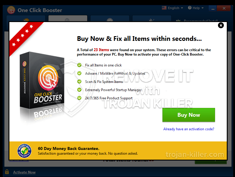 What is One Click Booster?